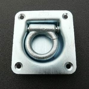 Recessed Sprung Lashing Ring Zinc Plated